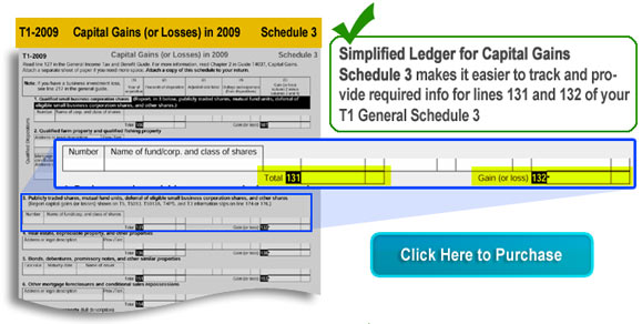 Simplified Ledger - Schedule 3